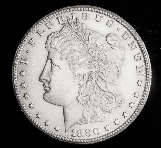 1880 CC SILVER MORGAN DOLLAR COIN GRADE GEM MS BU UNC MS++++ COIN!!!!