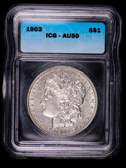 1903 MORGAN SILVER DOLLAR COIN ICG AU50