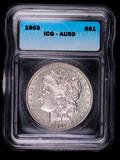 1903 MORGAN SILVER DOLLAR COIN ICG AU50