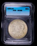 1921 S MORGAN SILVER DOLLAR COIN ICG AU58
