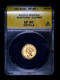 1853 $2.50 LIBERTY GOLD COIN ANACS EF40