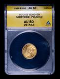 1878 $2.50 LIBERTY GOLD COIN ANACS AU50