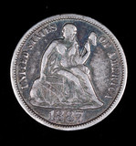 1887 LIBERTY SEATED DIME COIN