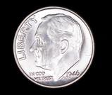 1946 ROOSEVELT SILVER DIME COIN GEM BU UNC MS+++
