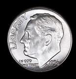 1956 D ROOSEVELT SILVER DIME COIN GEM BU UNC MS+++