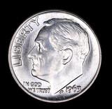 1963 ROOSEVELT SILVER DIME COIN GEM BU UNC MS+++
