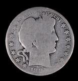 1901 BARBER SILVER HALF DOLLAR COIN