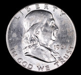 1961 FRANKLIN SILVER HALF DOLLAR COIN GEM BU UNC MS+++