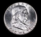 1962 D FRANKLIN SILVER HALF DOLLAR COIN GEM BU UNC MS+++