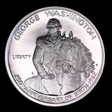 1982 PROOF COMMEMORATIVE SILVER HALF DOLLAR COIN WASHINGTON