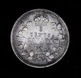 1907 CANADA SILVER 5 CENT NICKEL COIN