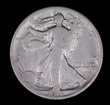 1917 WALKING LIBERTY SILVER HALF DOLLAR COIN