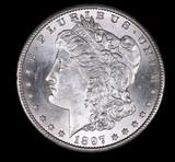 1897 S MORGAN SILVER DOLLAR COIN GEM BU UNC MS+++