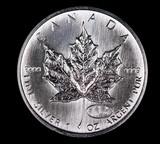 2000 CANADA 1oz .9999 FINE SILVER COIN MAPLE LEAF PRIVY