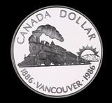 1986 CANADA PROOF SILVER DOLLAR COIN