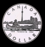 1984 CANADA PROOF SILVER DOLLAR COIN