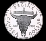 1982 CANADA PROOF SILVER DOLLAR COIN