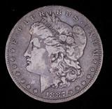 1887 O MORGAN SILVER DOLLAR COIN