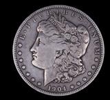 1904 O MORGAN SILVER DOLLAR COIN