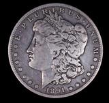 1891 O MORGAN SILVER DOLLAR COIN