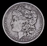 1882 O/S MORGAN SILVER DOLLAR COIN