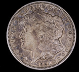1921 D MORGAN SILVER DOLLAR COIN