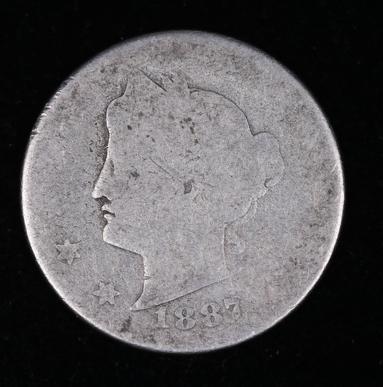 1887 LIBERTY V NICKEL COIN