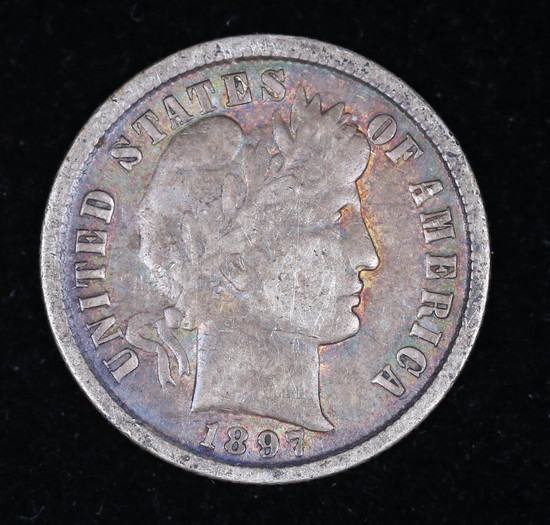 1897 BARBER SILVER DIME COIN