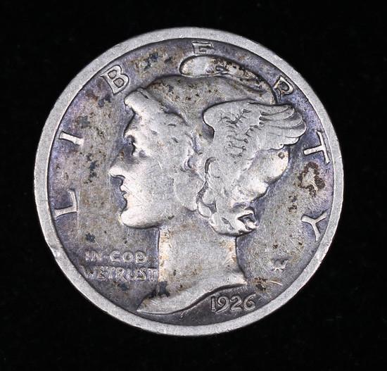 1926 D MERCURY SILVER DIME COIN