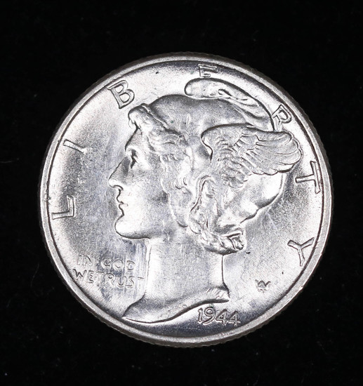 1944 MERCURY SILVER DIME COIN GEM BU UNC MS+++