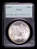 1885 MORGAN SILVER DOLLAR COIN OLD RATTLER PCGS MS63