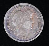 1897 BARBER SILVER DIME COIN