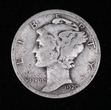 1920 D MERCURY SILVER DIME COIN