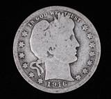 1916 BARBER SILVER QUARTER DOLLAR COIN
