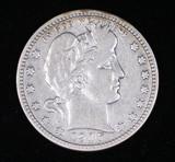 1916 D BARBER SILVER QUARTER DOLLAR COIN