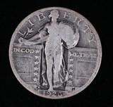 1926 D STANDING SILVER QUARTER DOLLAR COIN