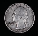 1934 WASHINGTON SILVER QUARTER DOLLAR COIN