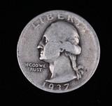 1937 D WASHINGTON SILVER QUARTER DOLLAR COIN