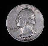 1944 D WASHINGTON SILVER QUARTER DOLLAR COIN