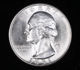 1951 S WASHINGTON SILVER QUARTER DOLLAR COIN GEM BU UNC MS+++