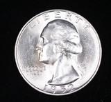 1952 S WASHINGTON SILVER QUARTER DOLLAR COIN GEM BU UNC MS+++