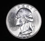 1958 D WASHINGTON SILVER QUARTER DOLLAR COIN GEM BU UNC MS+++