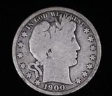 1900 BARBER SILVER HALF DOLLAR COIN