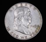 1948 D FRANKLIN SILVER HALF DOLLAR COIN