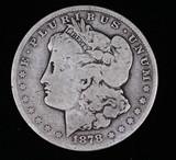 1878 CC MORGAN SILVER DOLLAR COIN