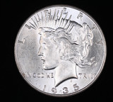 1935 PEACE SILVER DOLLAR COIN GEM BU UNC MS++