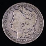 1894 S MORGAN SILVER DOLLAR COIN