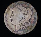 1882 O MORGAN SILVER DOLLAR COIN