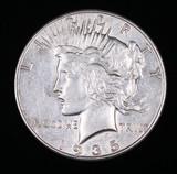 1935 PEACE SILVER DOLLAR COIN