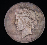 1934 D PEACE SILVER DOLLAR COIN
